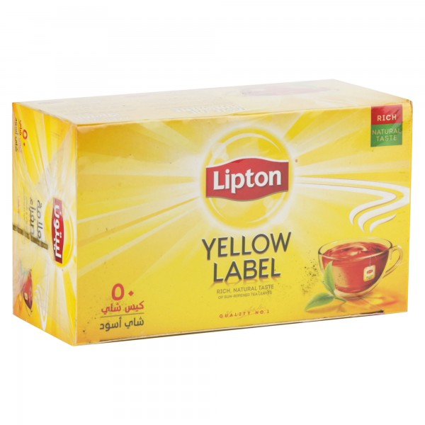 Lipton Black Tea Bags 50 Sachets 218224-V001 by Lipton