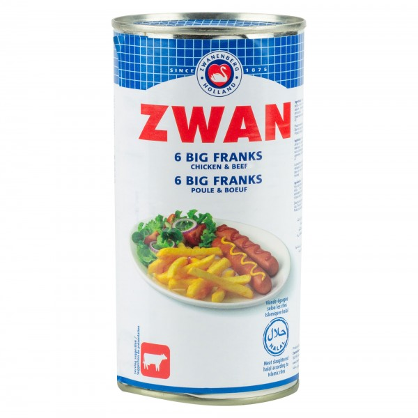 Zwan Beef 6 Big Franks 300G 225602-V001