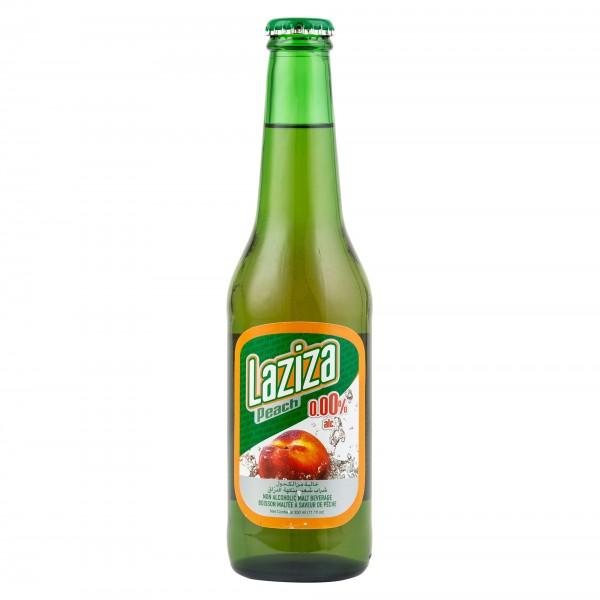Laziza Non-epilcoholic Peach Malt Beer Bottle 33cl 232827-V001 by Laziza