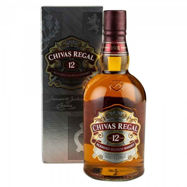 Chivas Regal Blended Scotch Whisky Aged 12 Years 75cl 244557-V001 by Chivas Regal