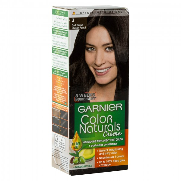 Garnier Color Naturals 3 Dark Brown 1Pc 246750-V001 by Garnier