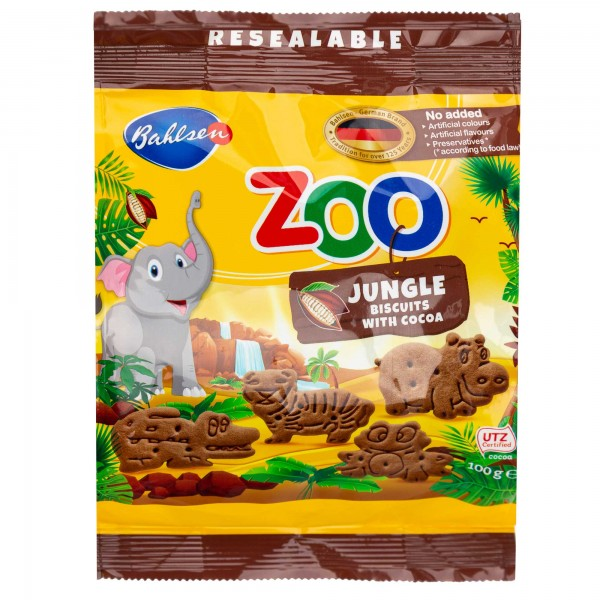 Bahlsen Leibniz Zoo Butter Biscuits 100G 247404-V001 by Bahlsen