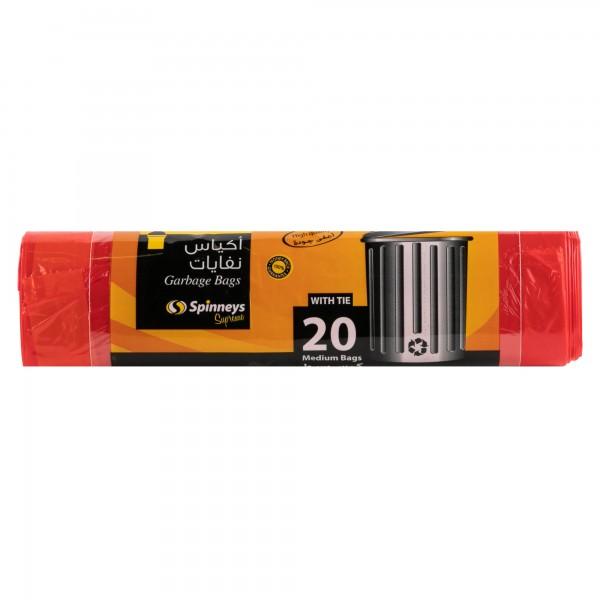 Spinneys Medium Tie-Handle Red Trash Bags 20 sacks 249669-V001 by Spinneys Supreme