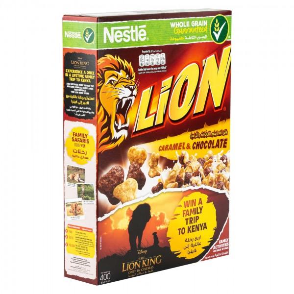 Nestle Lion Breakfast Cereal Caramel & Chocolate Flavor 400G 256795-V001 by Nestle
