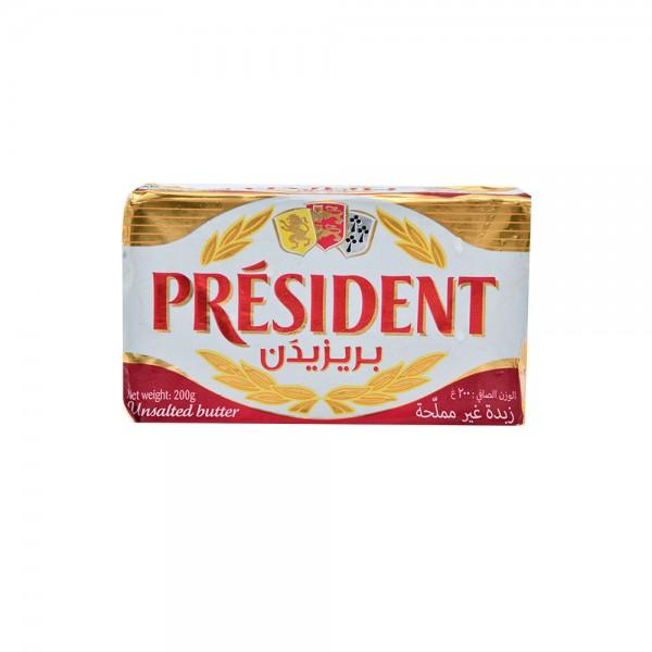 PRÉSIDENT Unsalted Butter Bar 200G 256986-V001 by President
