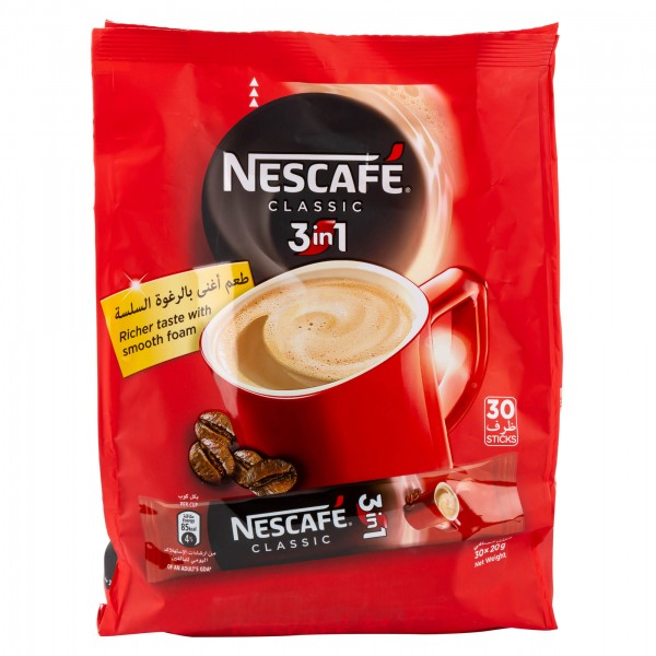 Nescafe 3 In 1 classic Bag 30x20G 264164-V001 by Nestle