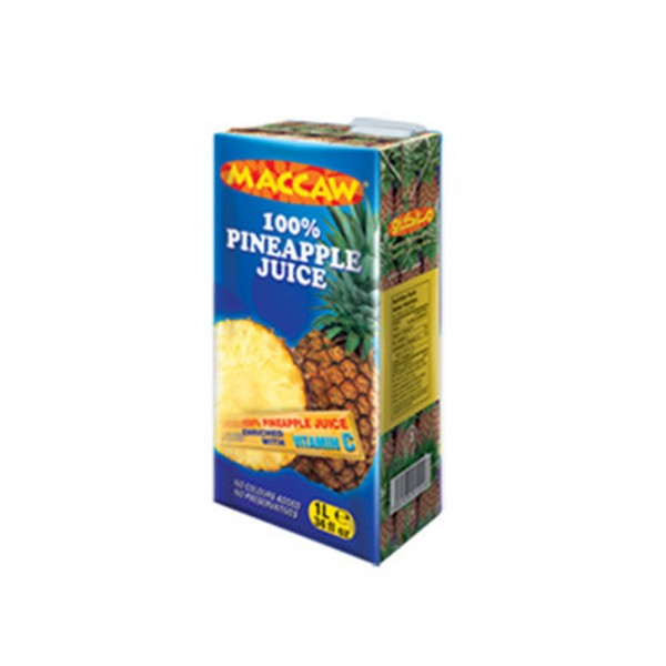 Maccaw Pineapple Juice Carton 1L 271777-V001