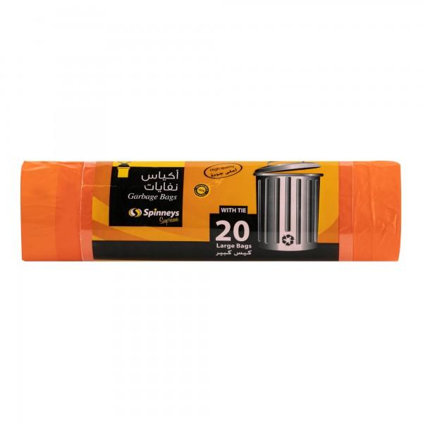 Spinneys Large Tie-Handle Orange Trash Bag 20 Sacks 274859-V001 by Spinneys Essentials