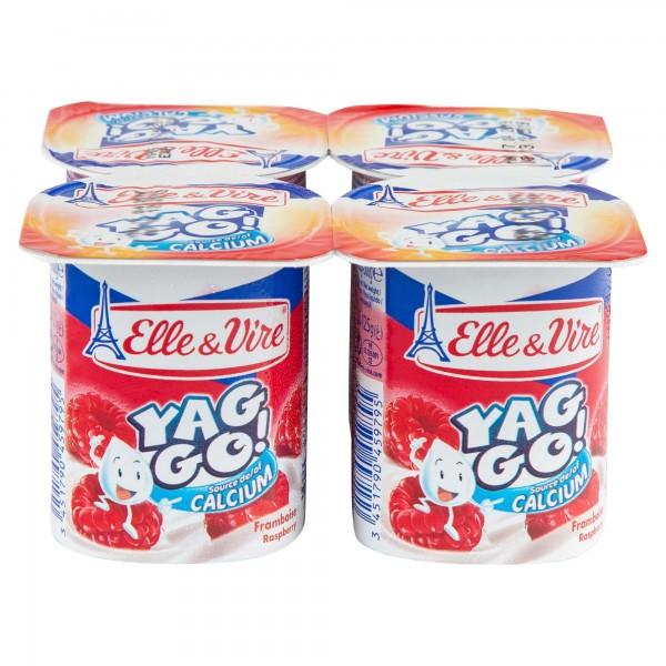 Elle & Vire Yag Go Dessert Lacte Framboise 125G 278451-V001 by Elle & Vire