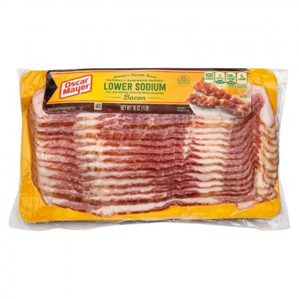 Oscar Mayer Lower Sodium Bacon 1LB 280924-V001 by Oscar Mayer