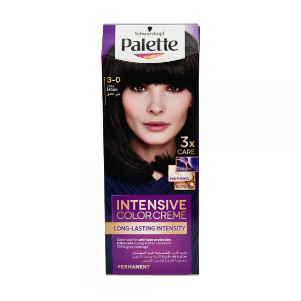 Schwarzkopf Palette Intensive Color Crème 3-0 Dark Brown 50ml 284237-V001 by Schwarzkopf