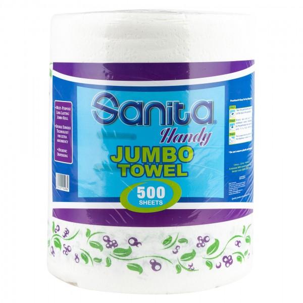 Sanita Handy Towel Jumbo 500 Sheets 286140-V001 by Sanita