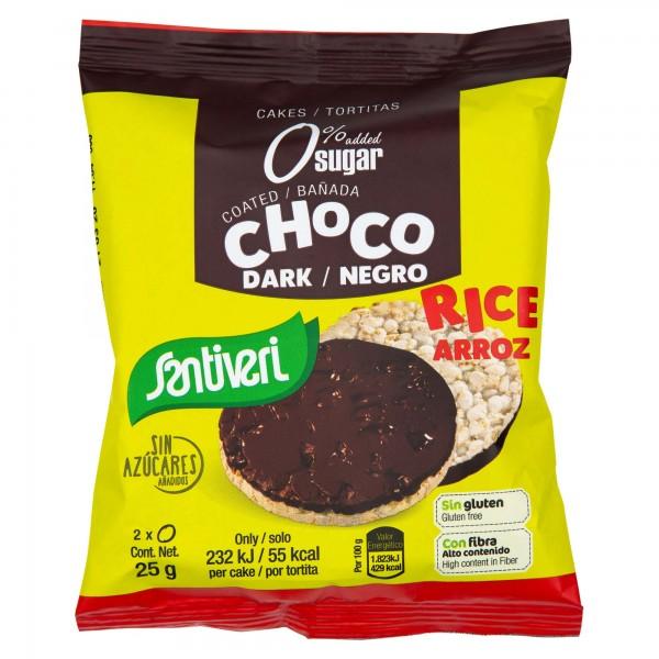 Santiveri Gluten Free Rice Cake With Dark Chocolate 33G 286841-V001