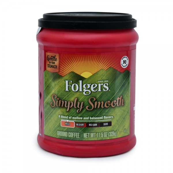 Folgers Simply Smooth Ground Coffee 11.5oz 290255-V001 by Folgers