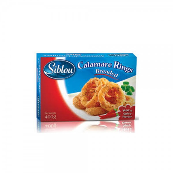 Siblou Breaded Calamar Rings Hot & Spicy - 400G 293902-V001 by Siblou
