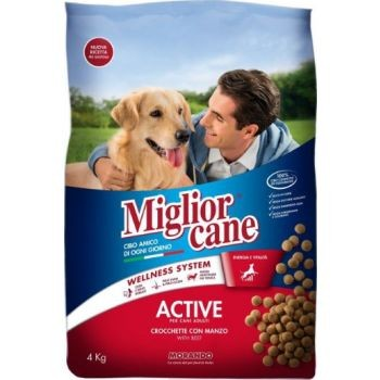 Migliorcane Active Croquettes With Beef Dry Dog Food 2Kg 297720-V001 by Miglior Cane