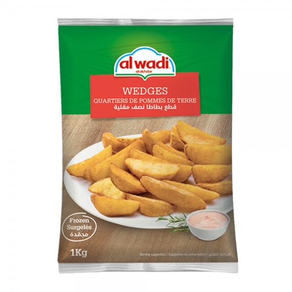 Al Wadi Al Akhdar Potato Wedges 1kg 301332-V001 by Al Wadi Al Akhdar