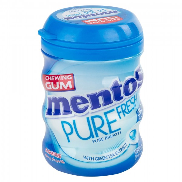 Mentos Pure Sugar Free Fresh Mint Chewing Gum Bottle 301494-V001 by Perfetti Van Melle