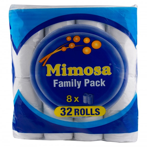 Mimosa Family Pack 32 Toilet Rolls 304818-V001 by Mimosa