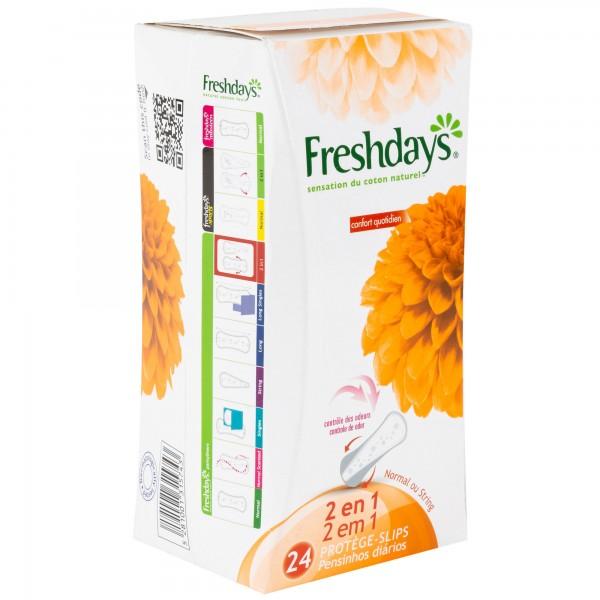 Freshdays 2 In 1 Pantiliners 24's 304841-V001 by Sanita