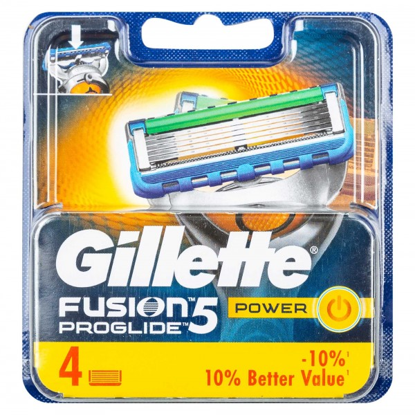 Gillette Fusion5 Proglide Power Razor 4 Pieces 305191-V001 by Gillette