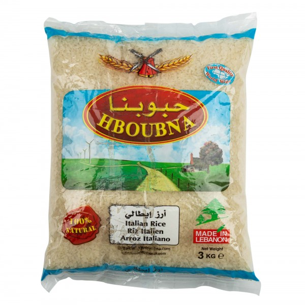 Hboubna Italian Rice 3Kg 305234-V001 by Hboubna