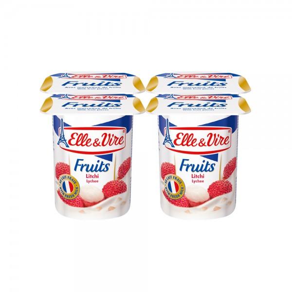 Elle & Vire Dessert Lacte Lictchi 125G 305437-V001 by Elle & Vire