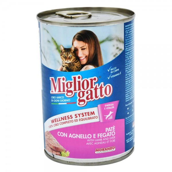Miglior Cat Food Lamb And Liver - 405G 310361-V001 by Miglior Cane