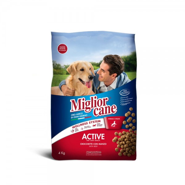 Migliorcane Active Croquettes With Beef Dry Dog Food 1.25Kg 310363-V001 by Miglior Cane