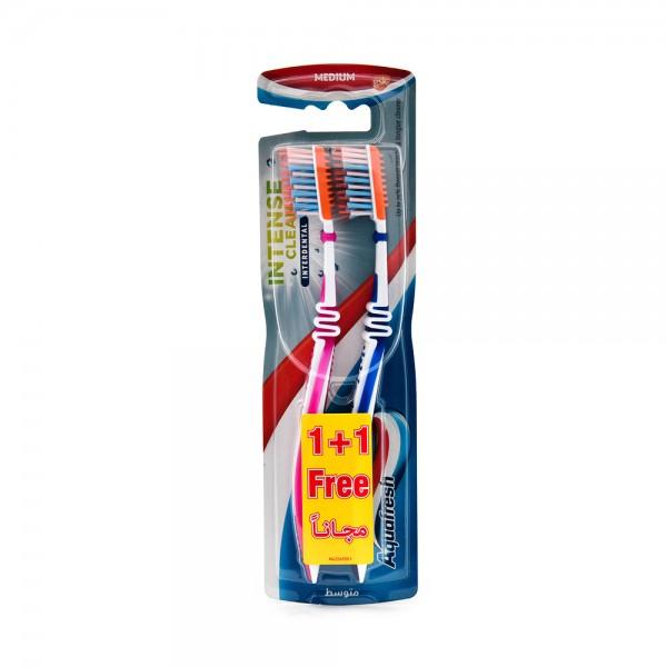 Aqua Fresh Toothbrush Intense Clean Interdental Medium 310780-V001 by Aquafresh