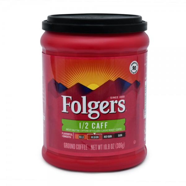 Folgers 1/2 Caff Ground Coffee Medium 10.8oz 311261-V001 by Folgers