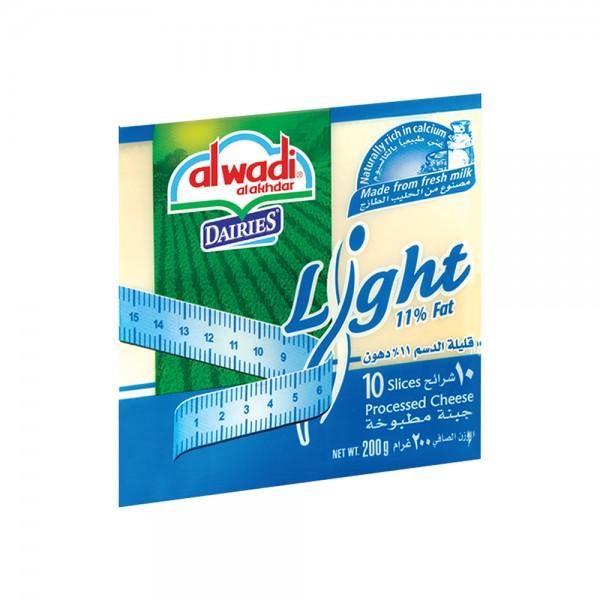 Al Wadi Al Akhdar Dairies Light Sliced Cheese 311712-V001 by Al Wadi Al Akhdar