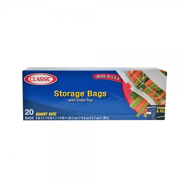 Classic Food Storage & Freezer Slider Bags 20 Pieces 312460-V001