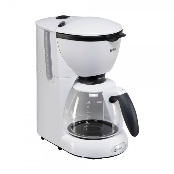 Braun Coffee Machine 10Cups White - 1000W 313074-V001 by Braun