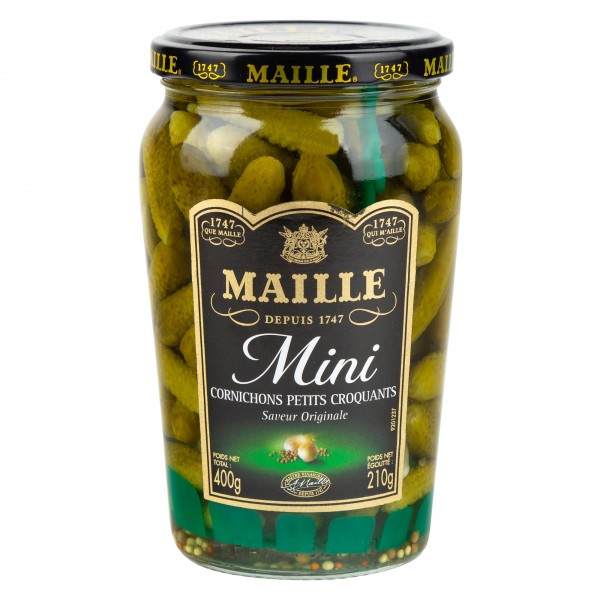 Maille Mini Cornichons/Gherkins Jar 210G 313284-V001 by Maille
