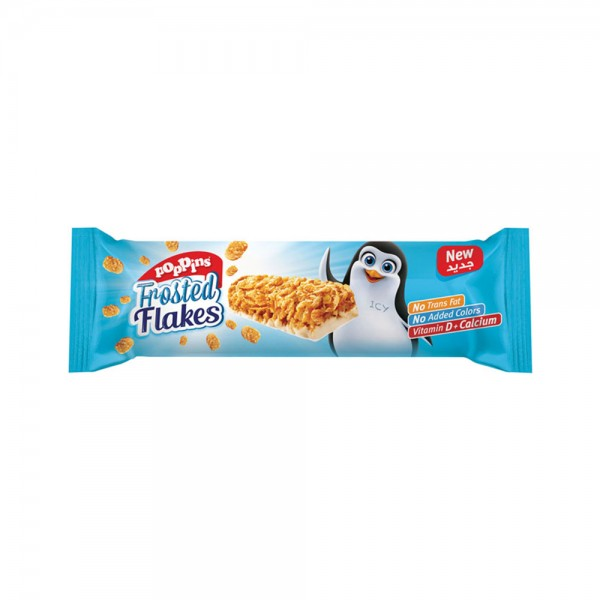Poppins Frosted Flakes Cereal Bar 25G 314880-V001 by Poppins