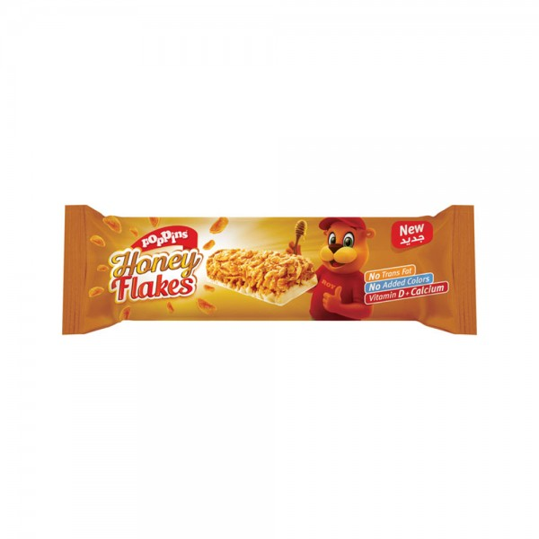 Poppins Honey Flakes Cereal Bar 25G 314882-V001 by Poppins