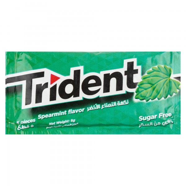 Trident Sugar Free Spearmint Flavor Chewing Gum 1Pc 315050-V001 by Trident