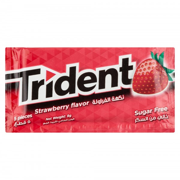 Trident Sugar Free Strawberry Flavor Chewing Gum 1Pc 315052-V001 by Trident