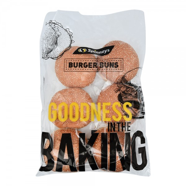 Spinneys Hamburger Buns 6 Pieces 317724-V001 by Spinneys Bakery