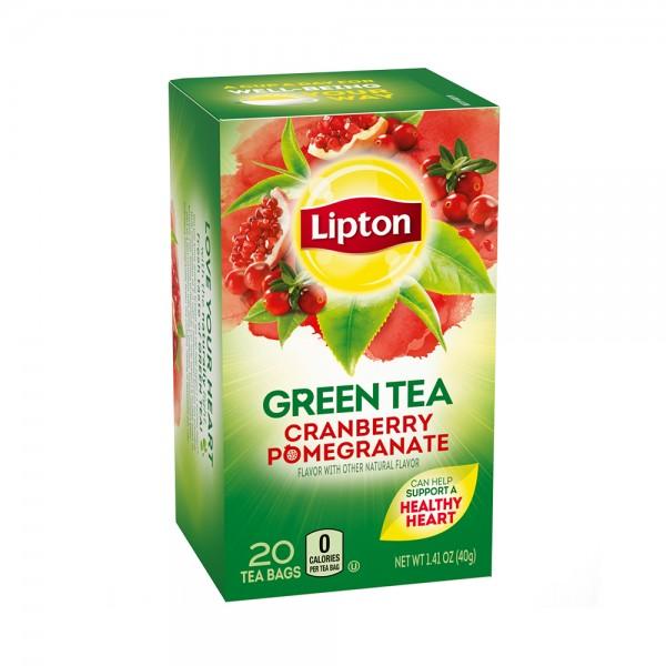 TEA BAGS GREEN CRAN POMEGRANAT 320009-V001 by Lipton