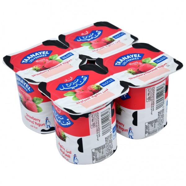 Fermes Taanayel Strawberry Yogurt 125g 325152-V001 by Taanayel Les Fermes