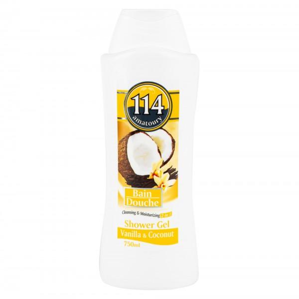 Amatoury 114 Shower Gel Vanilla & Coconut 750ml 328782-V001 by Amatoury 114