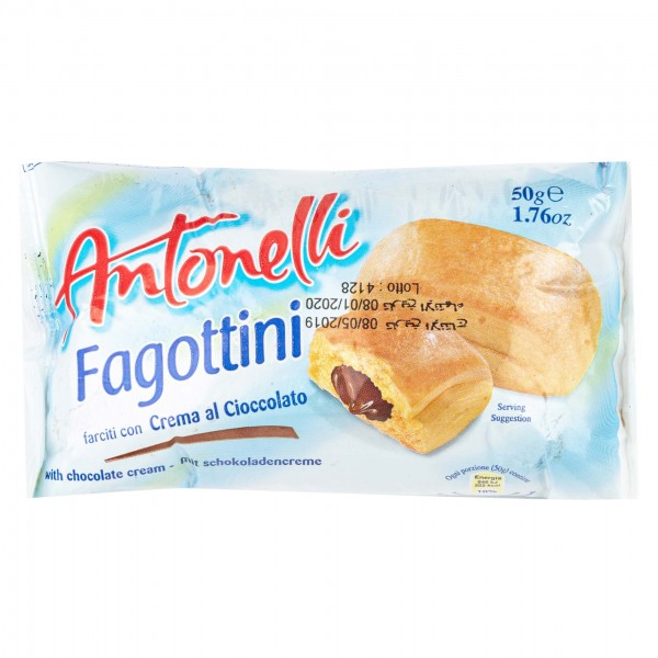 Antonelli Croissant With Chocolate Filling 50G 330131-V001 by Antonelli