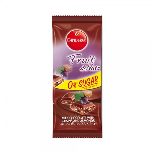 CANDEREL 0% added sugar Fruit & Nuts Milk Chocolate 85G 330935-V001 by Canderel