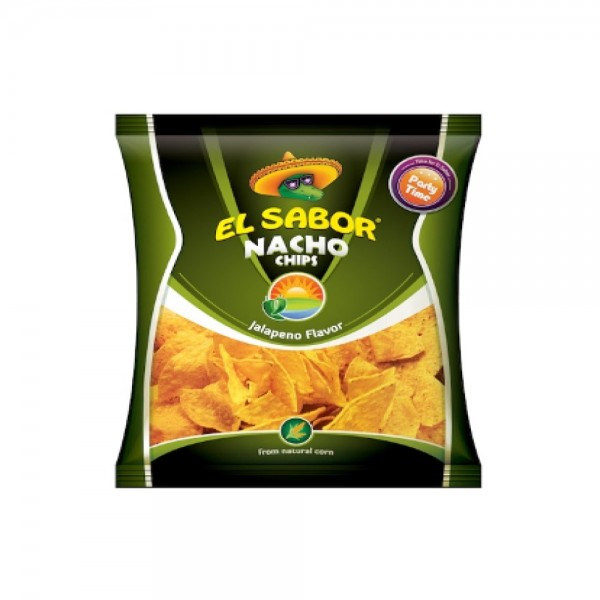 El Sabor Nacho Chips Jalapeno Party Size 332077-V001 by El Sabor