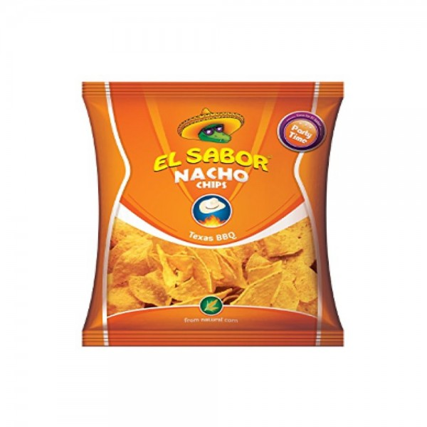 El Sabor Nacho Chips BBQ Party Size 332078-V001 by El Sabor