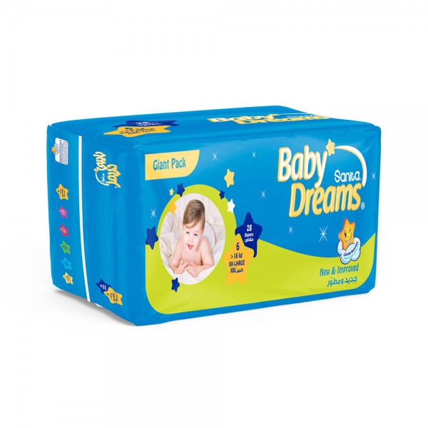 BABY DIAPERS GIANT XX-LARGE 18KG SIZE 6 332504-V001 by Sanita