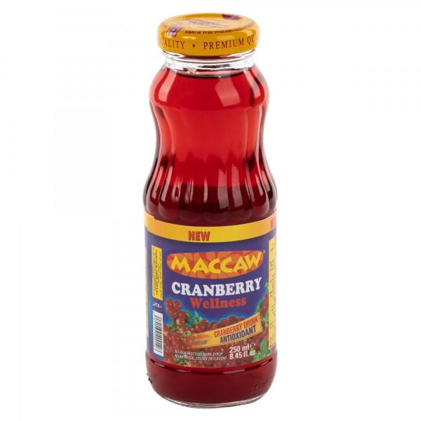 Maccaw Cranberry Glass Bottle 250ml 332627-V001