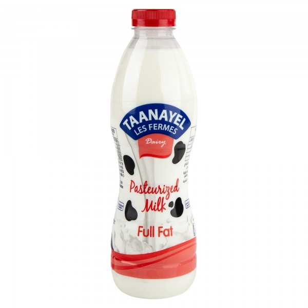 Taanayel Les Fermes Fresh Milk Full Fat 1L 332719-V001 by Taanayel Les Fermes